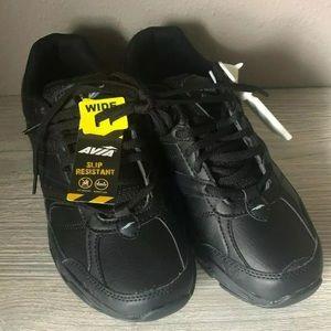 Avia Slip Resistant All Black Shoes